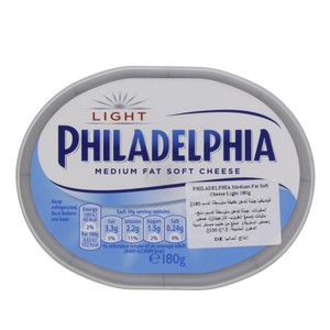 Kraft Philadelphia Medium Fat soft Cheese Light 180g