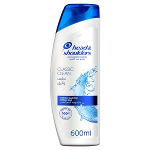Head & Shoulders Classic Clean Anti-Dandruff Shampoo 600ml