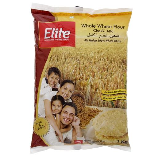 Buy Elite Whole Wheat Flour Chakki Fresh Atta 1 Kg - Flour - Lulu