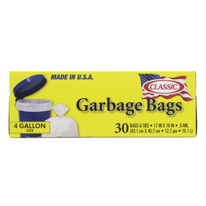 Classic Garbage Bags 4Gallon 30pcs