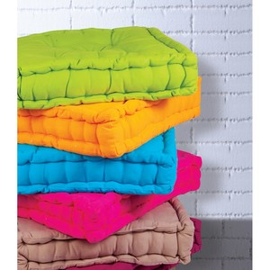 Homewell Box Cushion Cotton 50x50x10cm Per pc Assorted