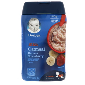 Gerber Lil Bits Oatmeal Banana & Strawberry Cereal 227g