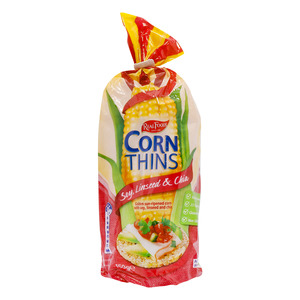 Real Foods Corn Thins Soy, Linseed & Chia Gluten Free 150g