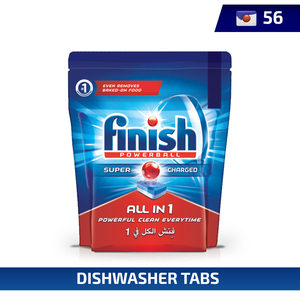 Finish Dishwasher Detergent All in One Tabs Regular 56pcs