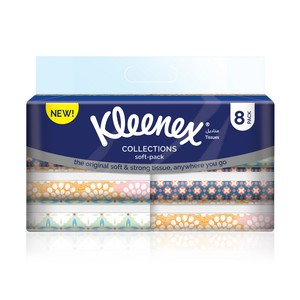 Kleenex Facial Tissue  Soft Pack 100s x 8 Pieces