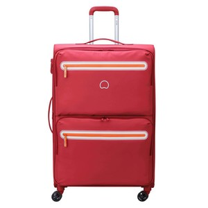 Delsey Carnot 4Wheel Soft Trolley 68cm Pink