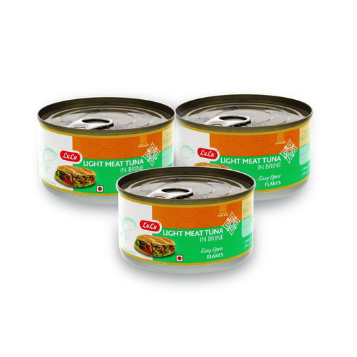 Lulu Light Meat Tuna Flakes Assorted 185g x 3pcs