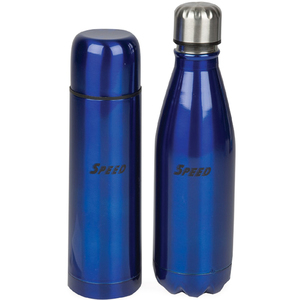 Speed Stainless Steel Flask 500ml + Cola Bottle 500ml Assorted Color