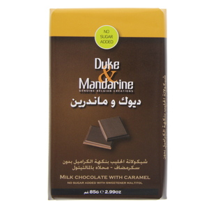Duke And Mandarine Milk Chocolate With Caramel 85g