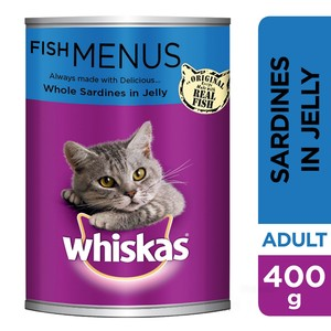 Whiskas® Whole Sardines in Jelly Can 400g