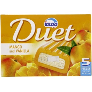 Igloo Duet Mango And Vanilla 5 X 65ml