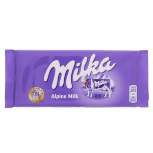 Milka Chocolate Alpine Milk 100g