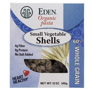 Eden Organic Pasta Small Vegetable Shells 340g