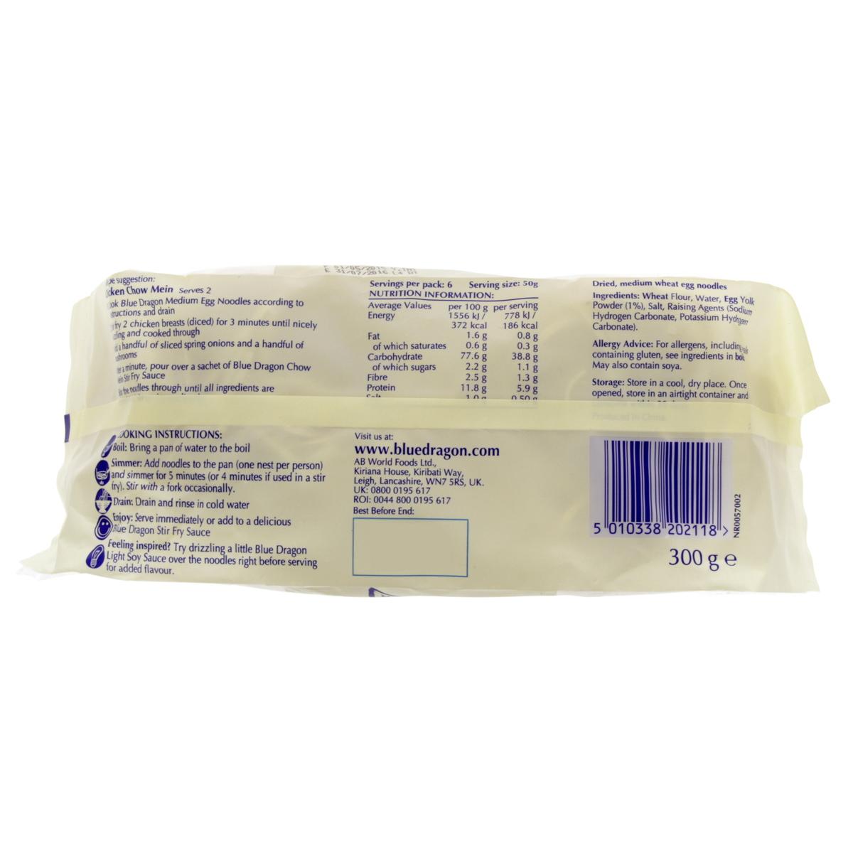 Buy Blue Dragon Medium Egg Noodles 300g - Instant Noodle
