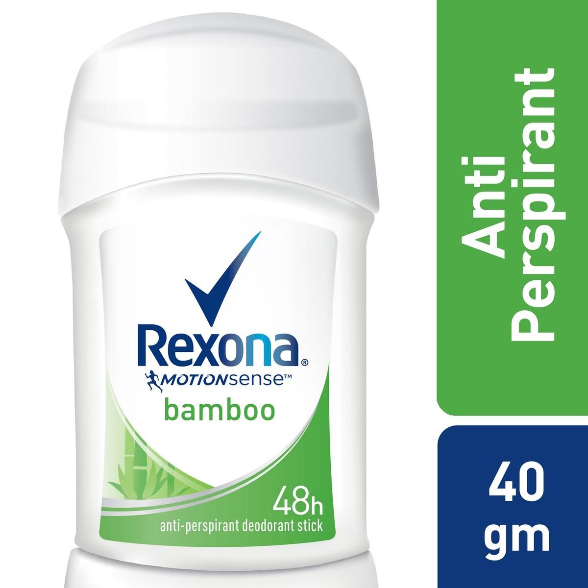 Buy Rexona Women Antiperspirant Stick Bamboo Dry, 40g