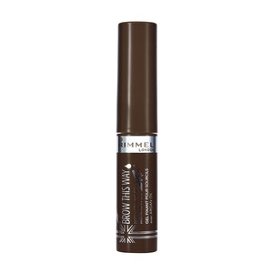 Rimmel London Brow This Way Eyebrow Gel With Argan Oil Dark Brown 1pc
