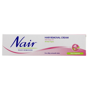 Nair Hair Removal cream for silky and Smooth skin Rose fragrance 110g