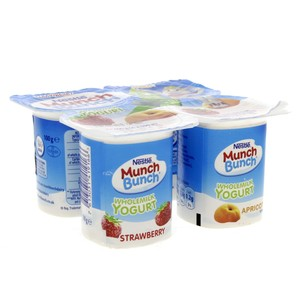 Nestle Munch Bunch Wholemilk Yogurt 100g x 4pcs