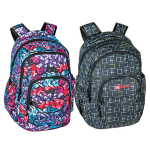 Wagon R Printed Backpack Assorted per pc L160113 19""