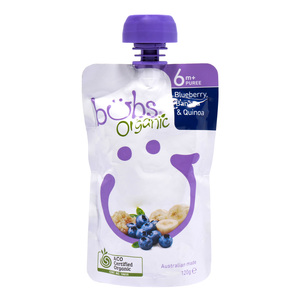 Organic Bubs Baby Food Blueberry Banana & Quinoa 6m+ 120g