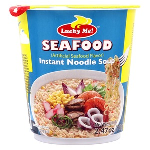 Lucky Me Seafood Instant Noodles Soup 70g