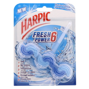 Harpic Fresh Power 6 Block Marine Splash 39g