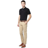 Louis Philippe Men's Polo LYKP1S01407 Black Medium