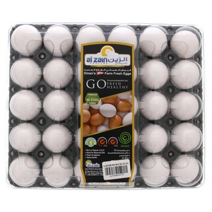 Al Zain White Eggs Large 30pcs