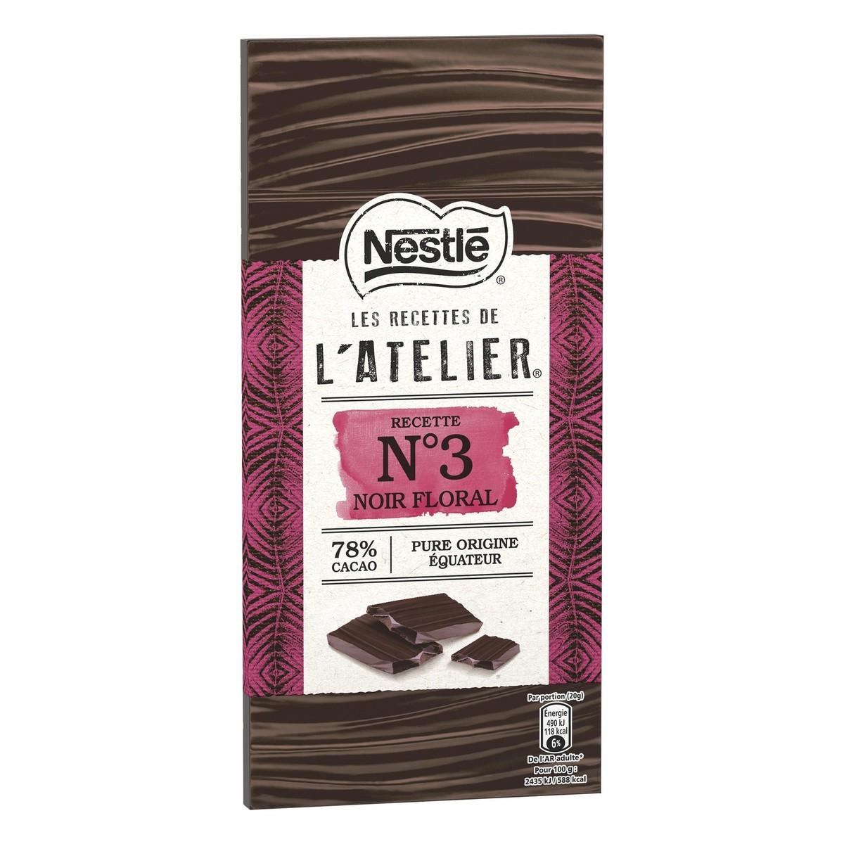 Buy Nestle L\'Atelier Dark Chocolate 78% Cocoa 100g Online ...