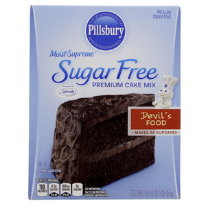 Pillsburry Sugar Free Premium Cake Mix Devil's Food 454 Gm