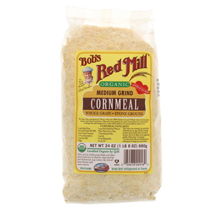 Bob's Red Mill Organic Medium Grind Cornmeal 680g