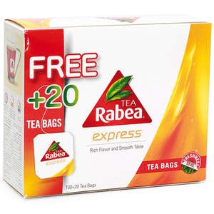 Rabea Express Tea Bag 100pcs + 20