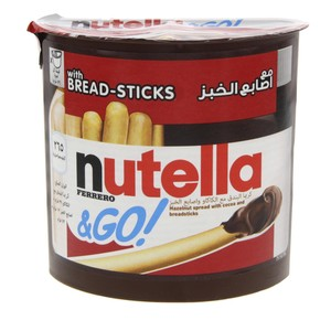 Nutella Hazelnut Spread With Cocoa And Malted Breadsticks 52g