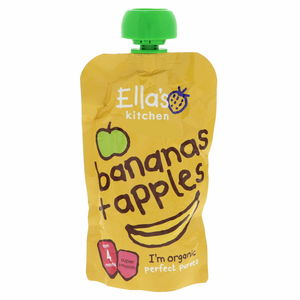 Ella's Kitchen Organic Bananas + Apples Super Smooth 120g