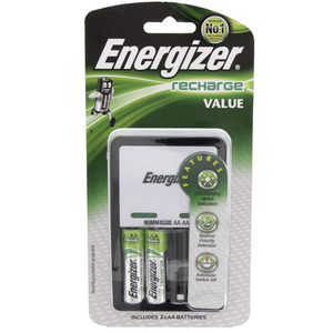 Energizer Value Charger + Rechargeable AA Battery CHVCW82