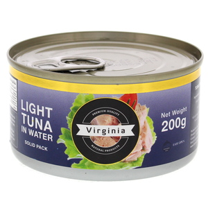 Virginia Light Tuna In Water Solid Pack 200g