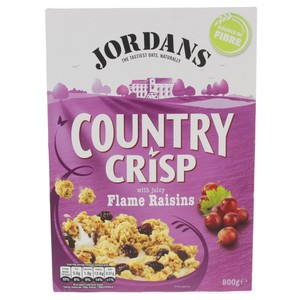 Jordan's Country Crisp With Juicy Flame Raisins 500g