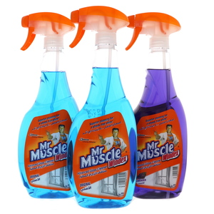 Mr Muscle Advanced Glass Cleaner Spry Assorted 3 x 750ml