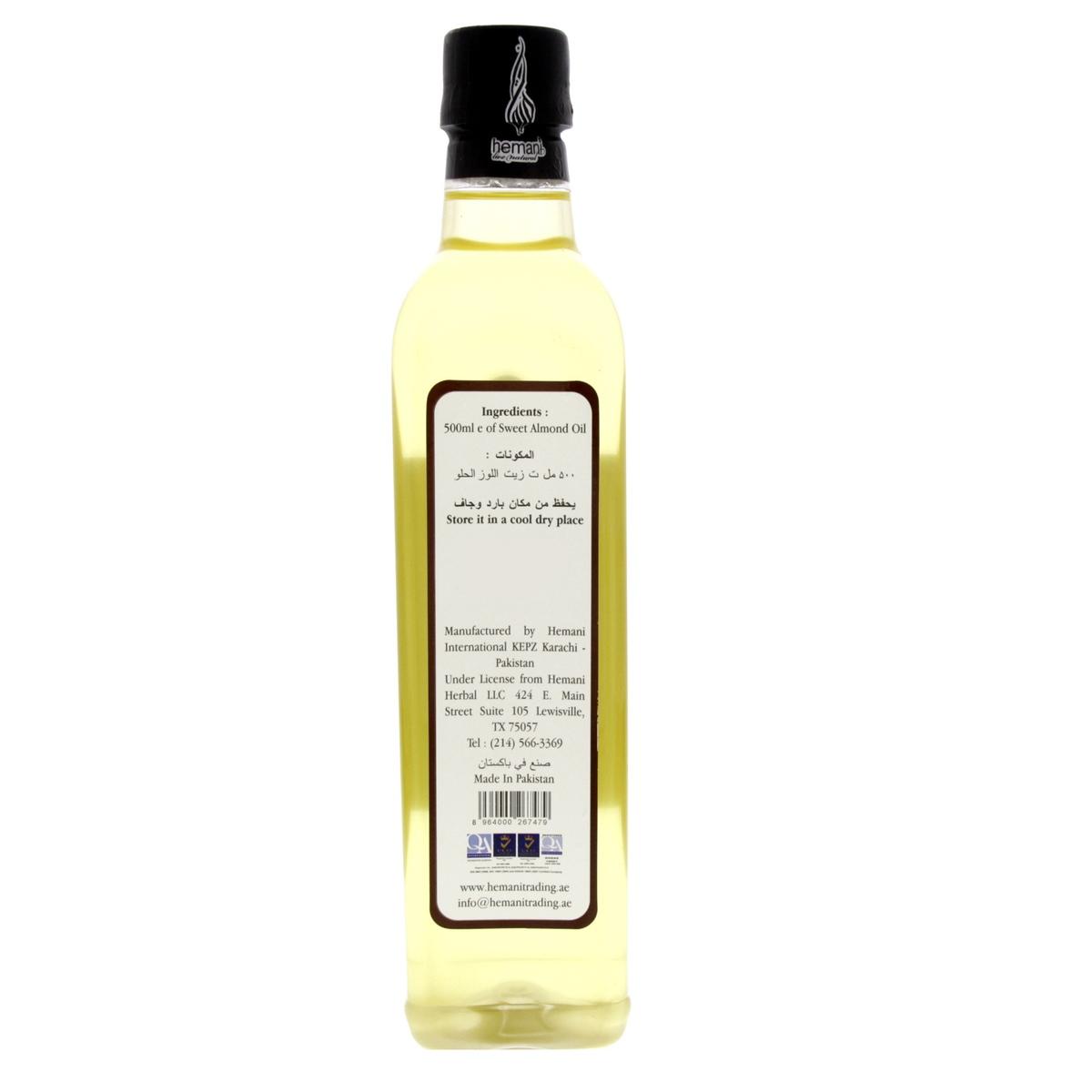 Buy Hemani Sweet Almond Oil 500ml - Other Cooking Oil - Lulu