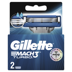 Gillette Mach3 Turbo Men's Razor Blades 2pcs