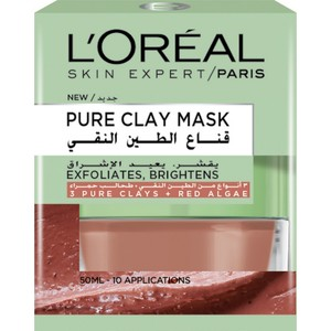 L'Oreal Paris Pure Clay Red Mask Exfoliates And Brightens Pores 50ml