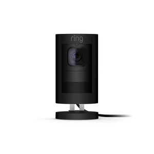 Ring Stick Up Cam Wired HD Security Camera with Two-Way Talk, Black