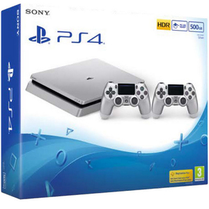 Sony PS4 Console 500GB Limited Edition Silver+2Controller