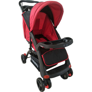 First Step Baby Stroller D6 Black/Red