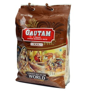 Gautam Classic Indian Basmati Rice XXL 5kg