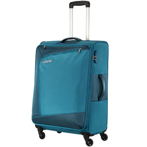 American Tourister Vienna 4 Wheel Soft Trolley 57cm Blue