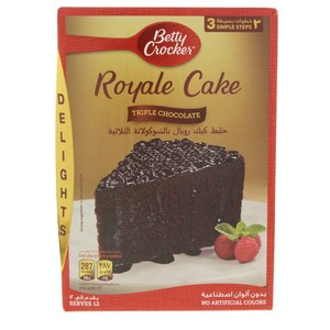 Betty Crocker Royale Cake Mix Triple Chocolate 610 Gm
