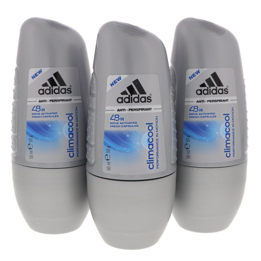 save off 7e5db bbfdd Buy Adidas Men Climacool Anti Perspirant Roll On 3 x 500ml ...