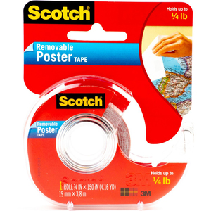 3M Scotch Wallsaver Poster Tape 3/4inch x 150inch 1Pc