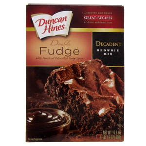Duncan Hines Double Fudge Decadent Brownie Mix 498 Gm